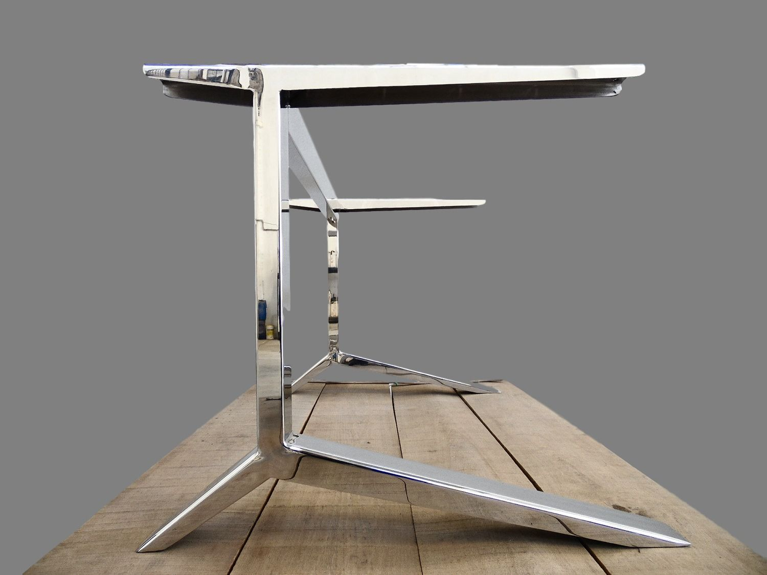Desk Legs 46 H X 46 W Apart 46 C-Table  Etsy  Steel office table