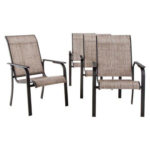 Wonderful Threshold™ Linden 4 Piece Sling Patio Dining Chair Set