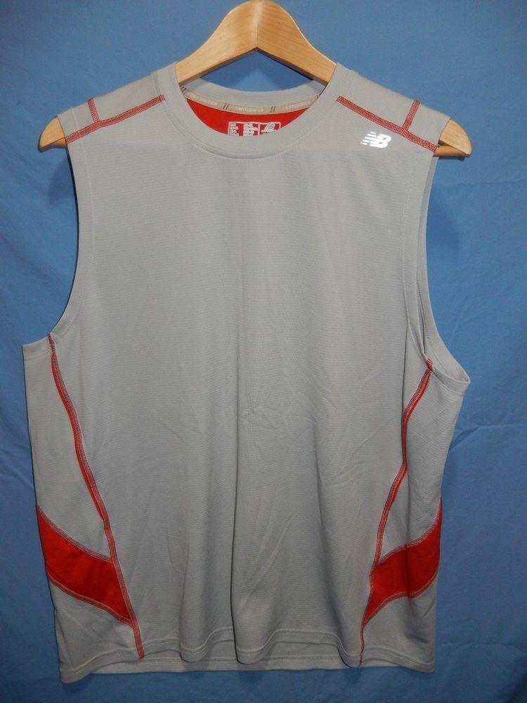 f6d21c5fee9e3 New Balance Men s XL Sleeveless Shirt Running Jersey Tank Top Gray  Reflective  NewBalance  Athletic