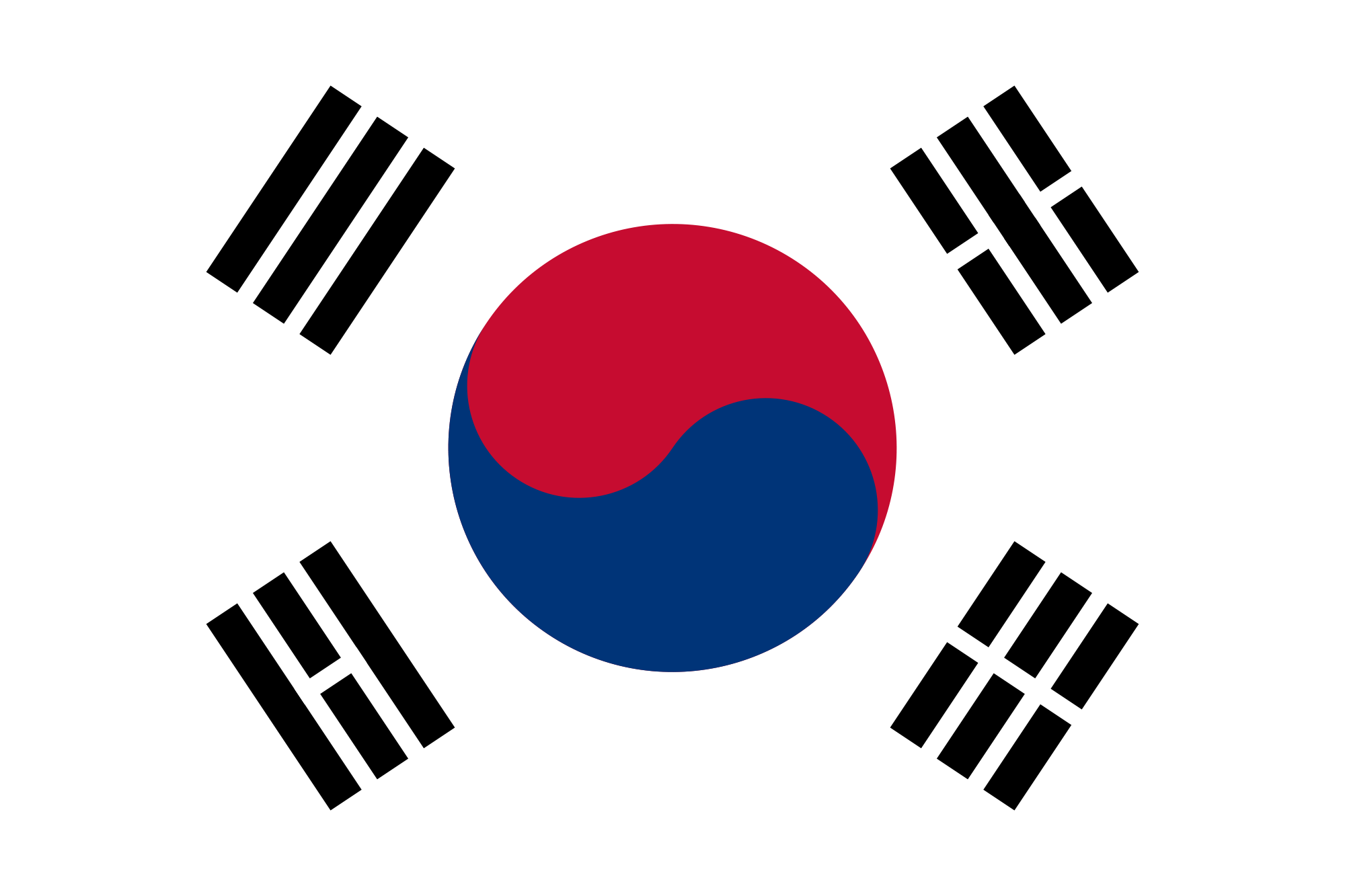 South Korea Country Flag South Korean Flag Korean Flag South Korea Flag