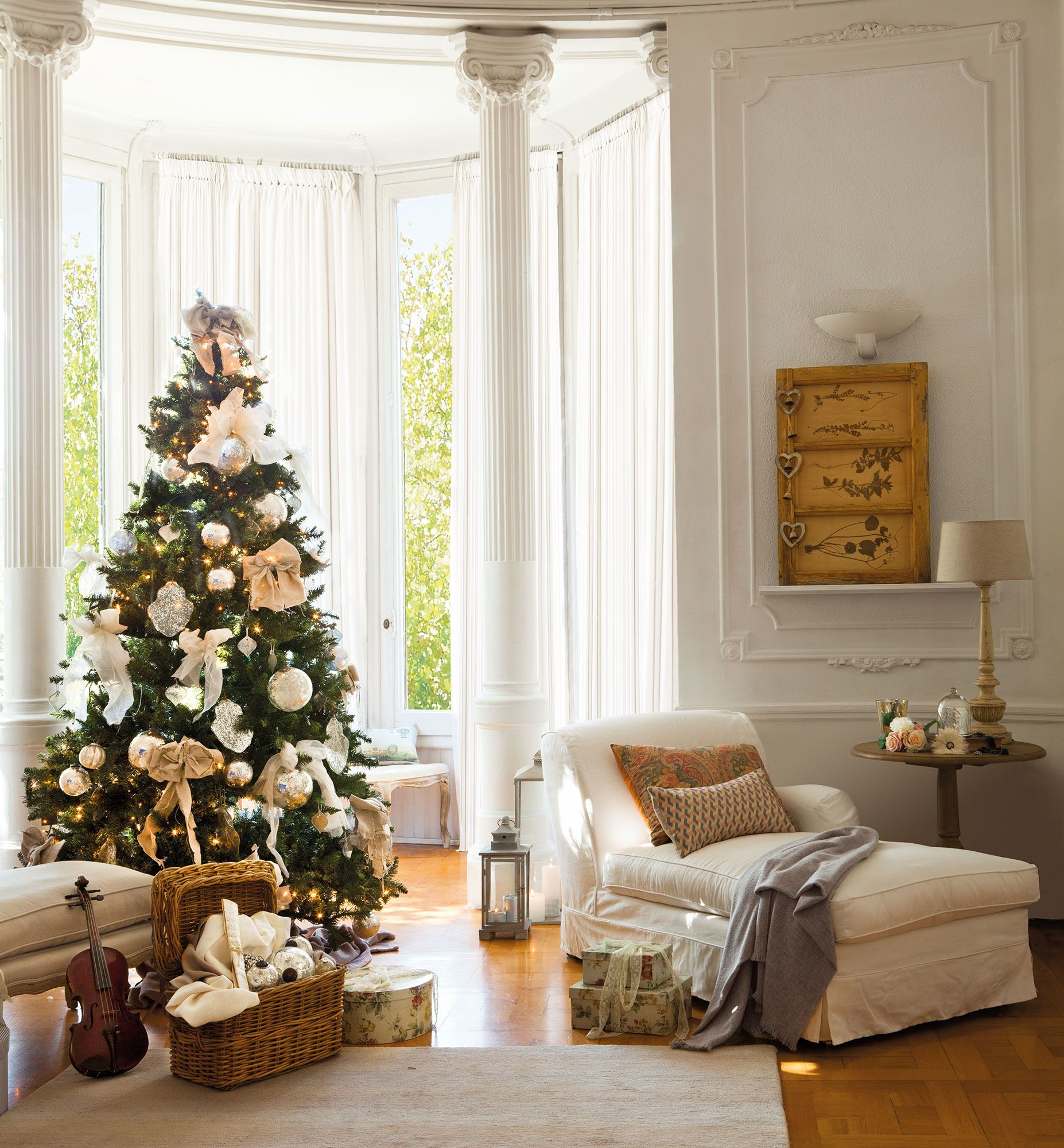 Una Navidad de nieve y oro: 15 ideas para decorar tu casa | Navidad ...