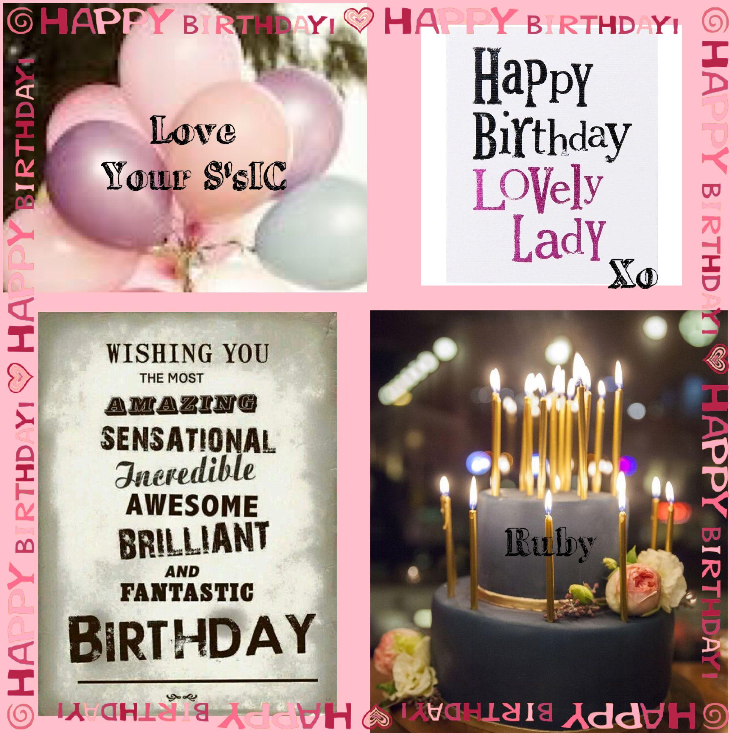 Happy Happy Birthday Sweet Ruby Love And Birthday Hugs