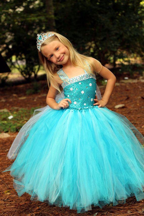 Frozen Snow Queen Inspired Elsa tutu dress Princess dress costume