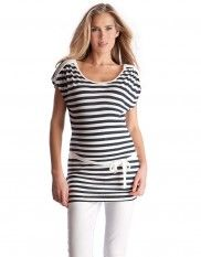 Sparkly Nautical Striped Maternity & Nursing Tunic