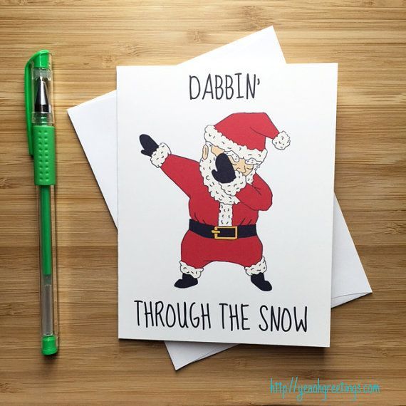 Funny dabbing santa claus christmas card xmas holiday funny funny dabbing santa claus christmas card xmas holiday funny seasons greetings card hip hop meme dab happy holidays christmas card set m4hsunfo