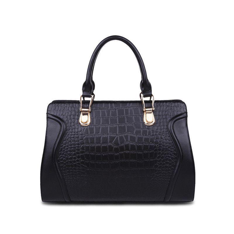 New Women Messenger Bags Luxury Crocodile Pattern Shoulder Bag 100% Genuine Leather Women Real Cowhide Tote Handbag SD02