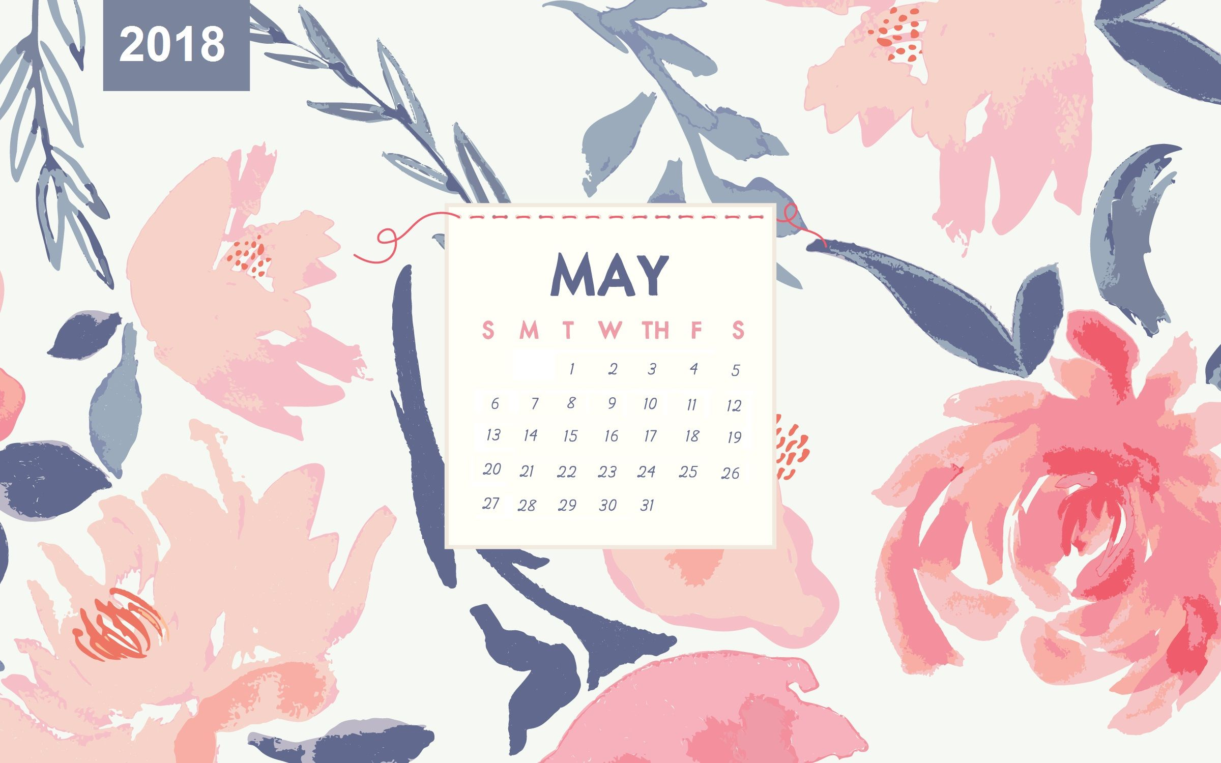 May 2018 Desktop Calendar With Images Desktop Wallpaper Calendar Calendar Wallpaper Desktop Calendar