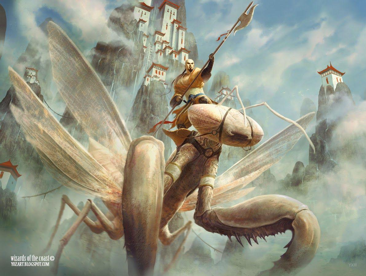 Image result for mantis rider art mtg