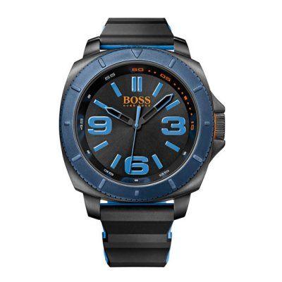 0c3fdbc33c3 Hugo Boss Orange - Men\'s Classic Black/Blue Silicone Watch - 1513108 -  Online Price £150.00