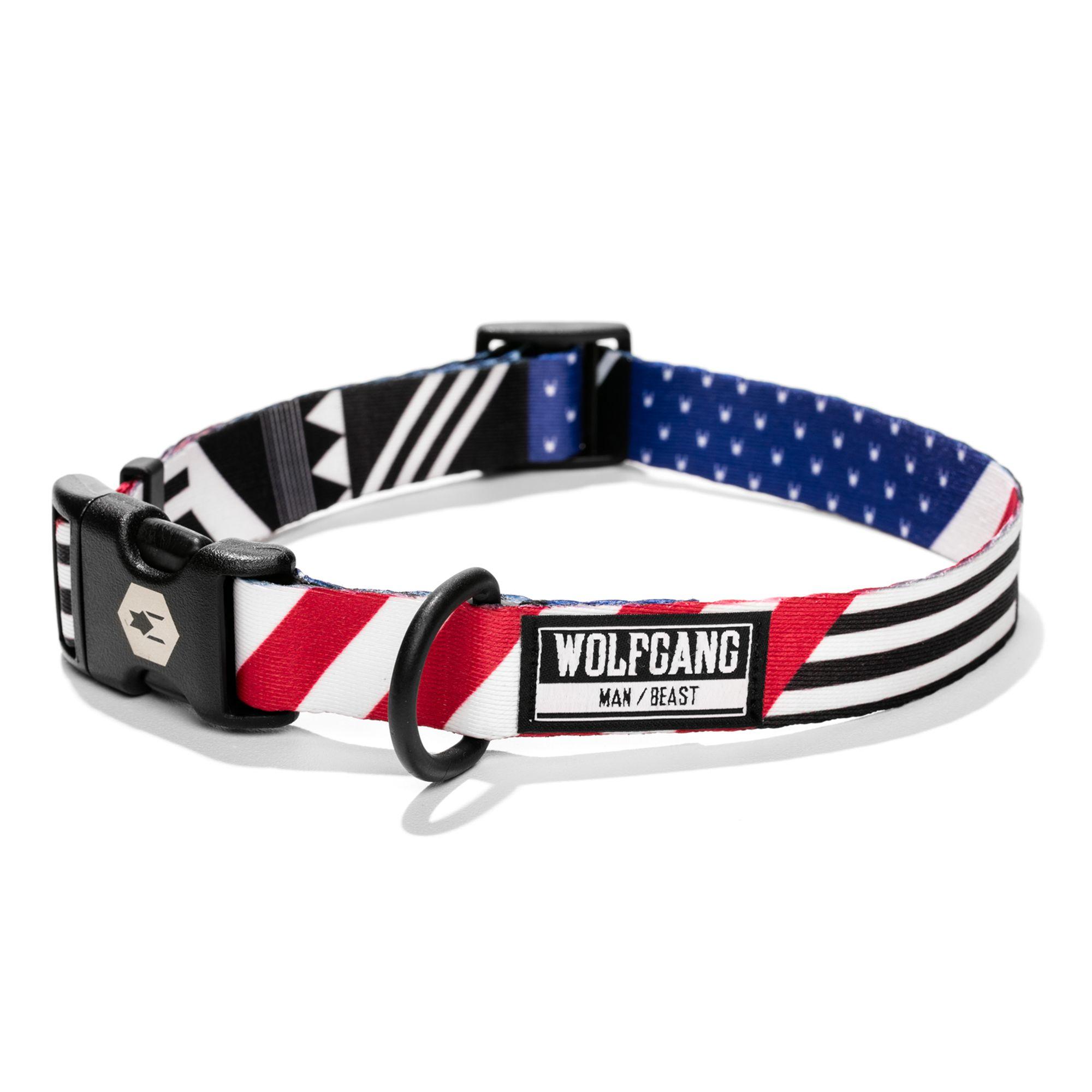 Wolfgang Man And Beast Pledgeallegiance Dog Collar Size Medium