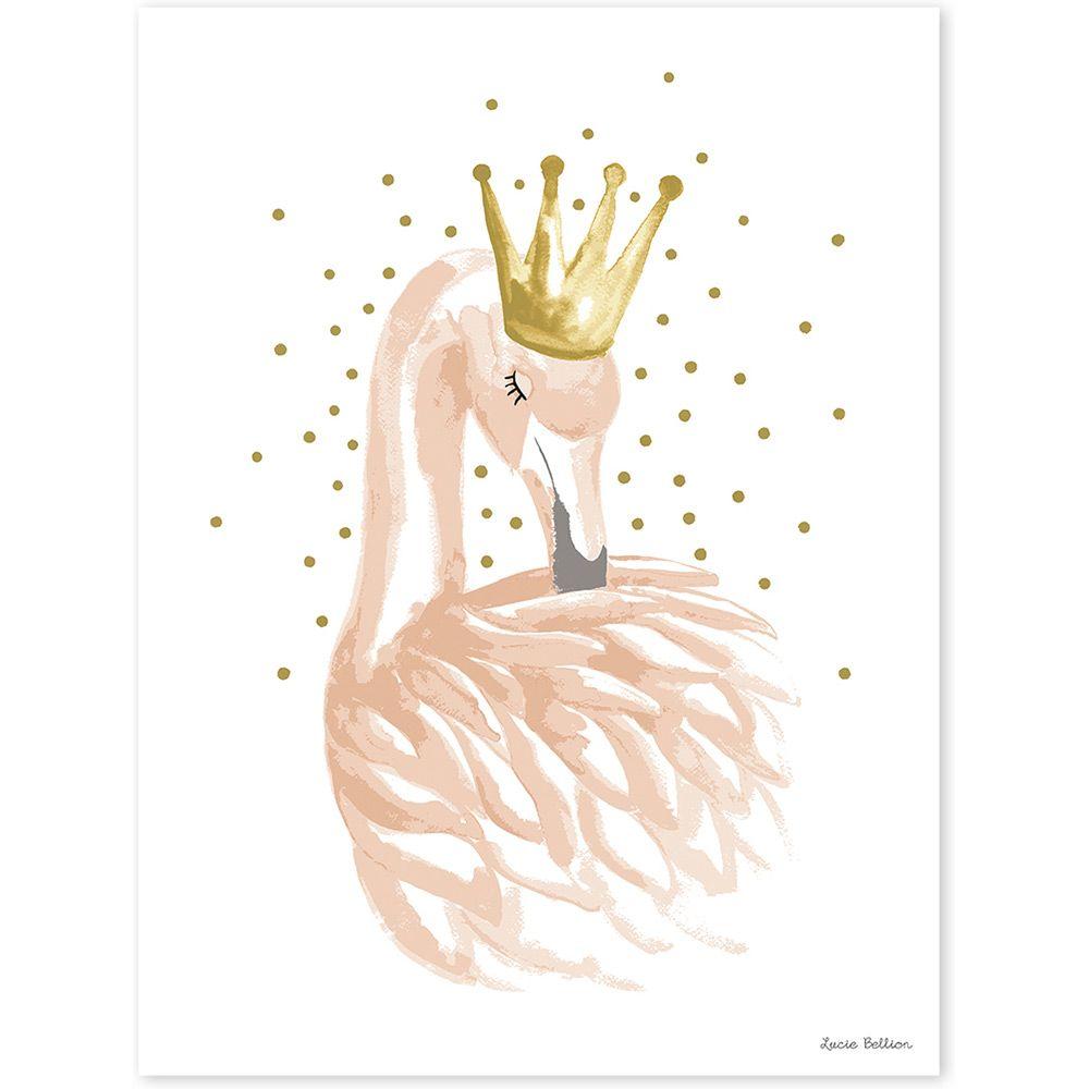 Affiche Flamingo Lilipinso And Co Art Sur Le Flamant Rose
