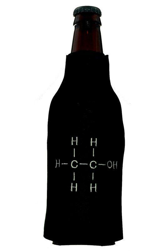 Ethanol Chemical Formula Bottle Koozie for Nerds, Geeks and