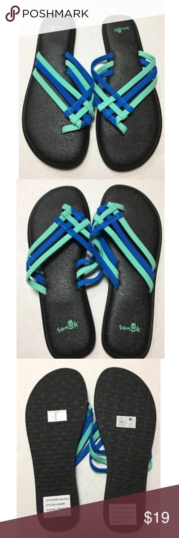 7ea085c20 Sanuk Yoga Salty Opal Indigo Bunting Sandals New Sanuk Yoga Salty Opal  Indigo Bunting Womens Size 7 Brand New Without Box. Will be shipped in  original Sanuk ...