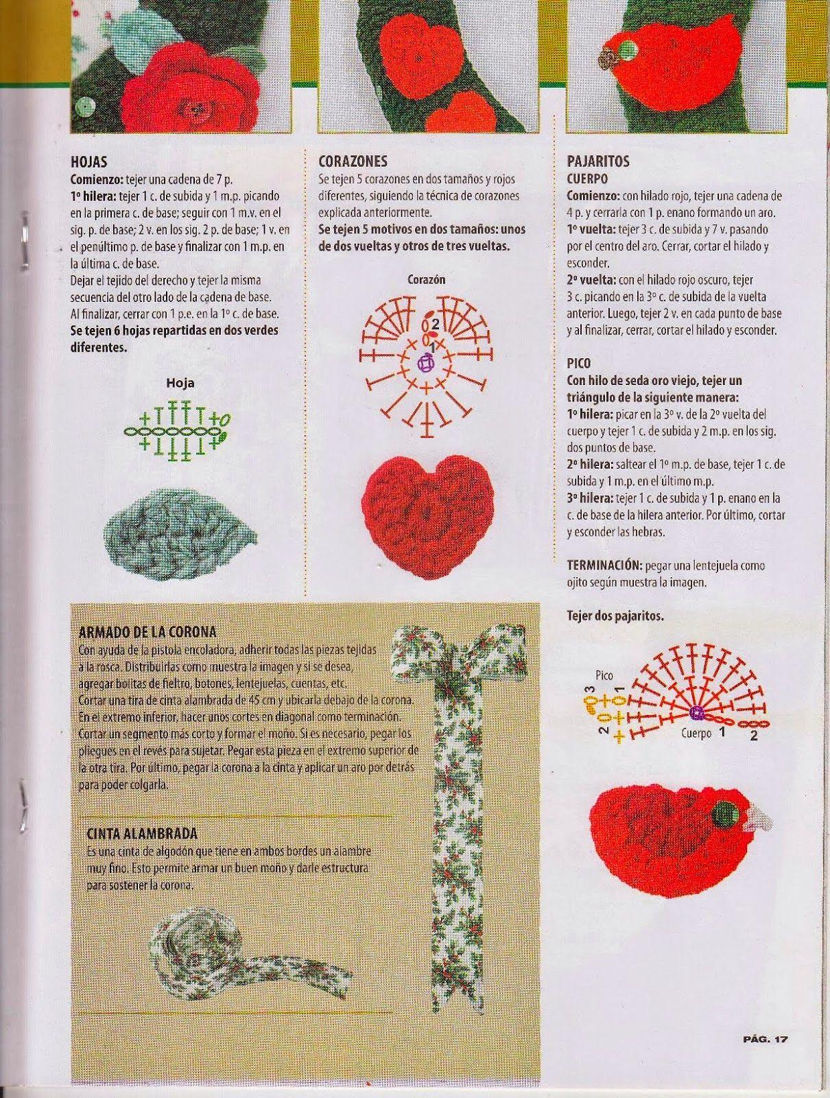 Revista con manualidades de Navidad a crochet para descargar ...