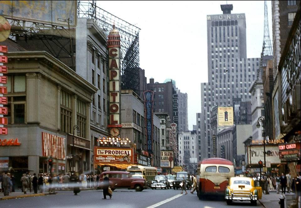 Broadway Towards 50th Street (1955) -photographer unknown