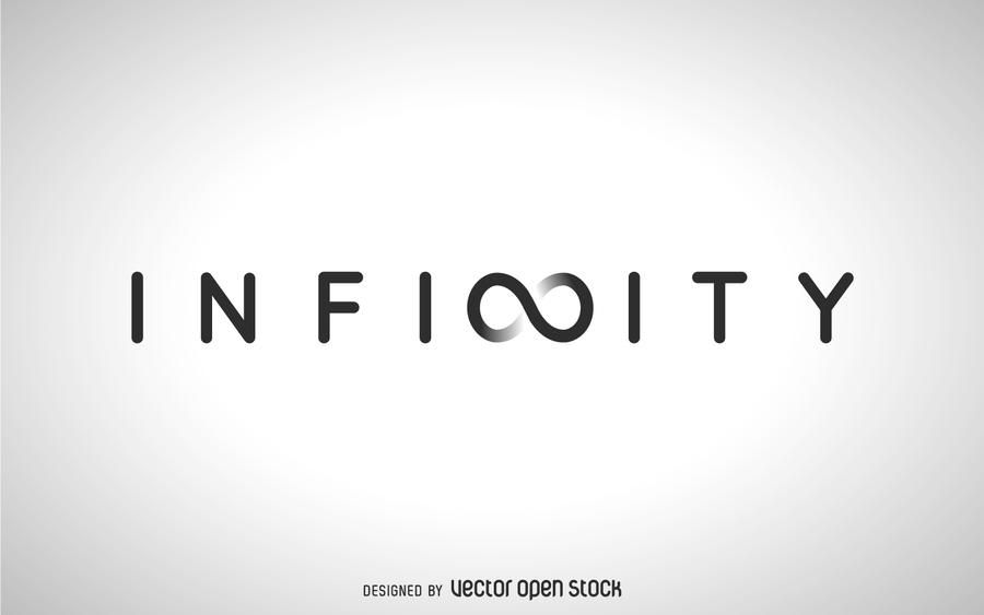 concept art for the word infinity design features the word infinity