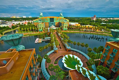Walt Disney World Dolphin  Swan Resort - It's a hotel with 1st class amenities. Located inside Walt Disney World resort  close to all the attractions. Loved it!