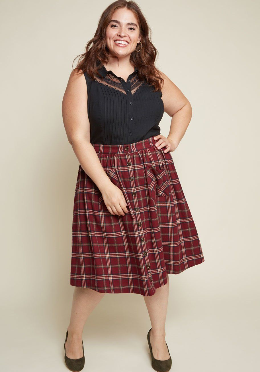 Red flannel around waist  Encouraging Outlook Flannel Skirt  Style  Personal  Pinterest