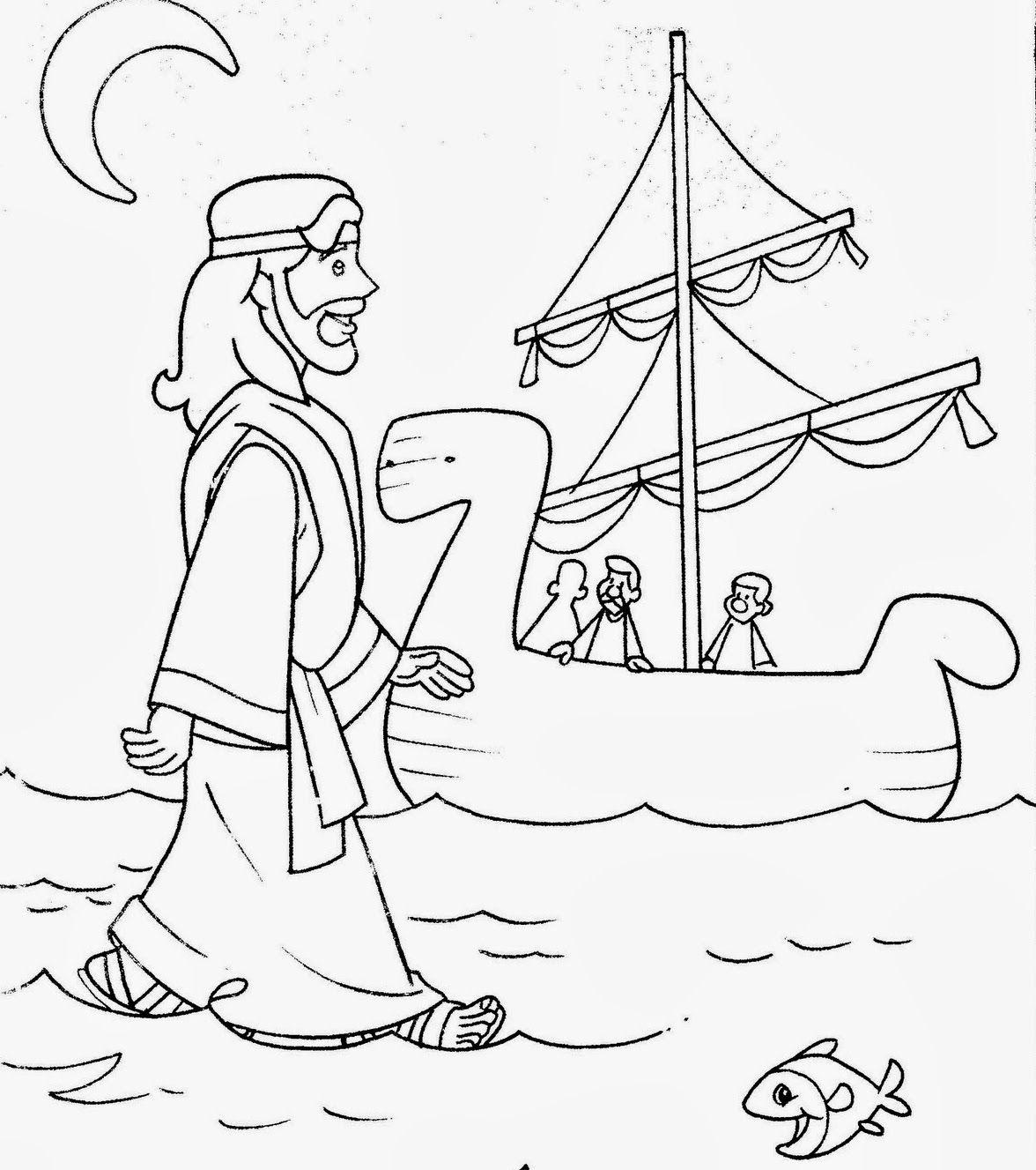 JESÚS+CAMINA+SOBRE+EL+AGUA+4.JPG (1176×1327) | me | Pinterest ...