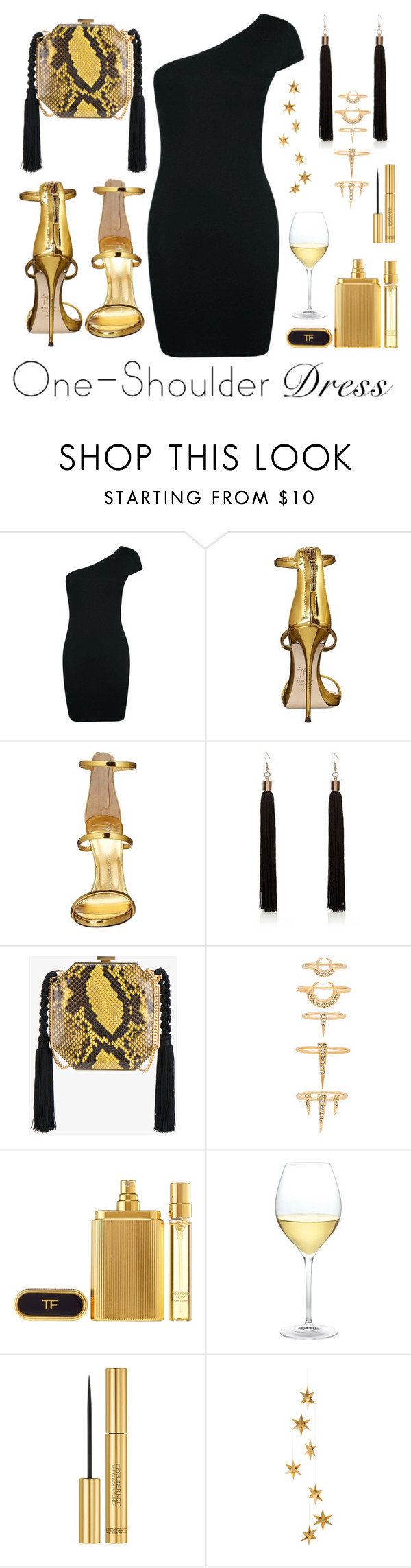 """""""paty girl"""" by sonitsa ❤ liked on Polyvore featuring Boohoo, Giuseppe Zanotti, Alessandra Rich, Luv Aj, Tom Ford, Nordstrom, Yves Saint Laurent and Livingly"""