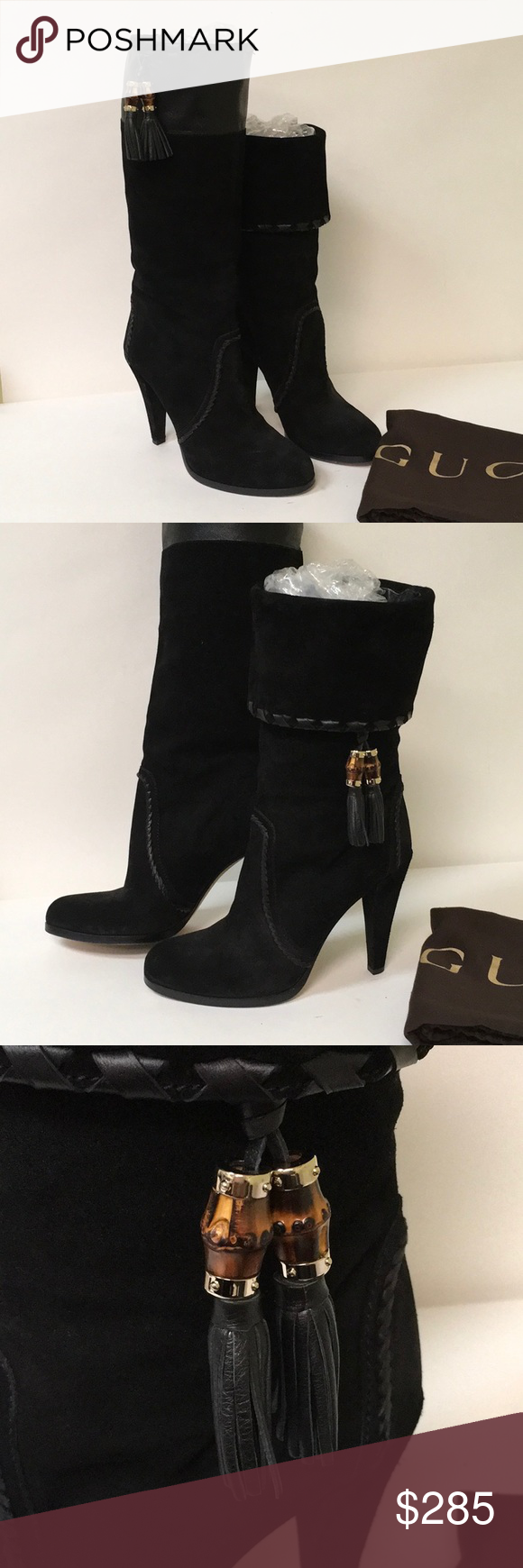 c6bf3c4bafbb Spotted while shopping on Poshmark  Gucci Suede Bamboo Knee High Tassel  Boots!  poshmark  fashion  shopping  style  Gucci  Shoes