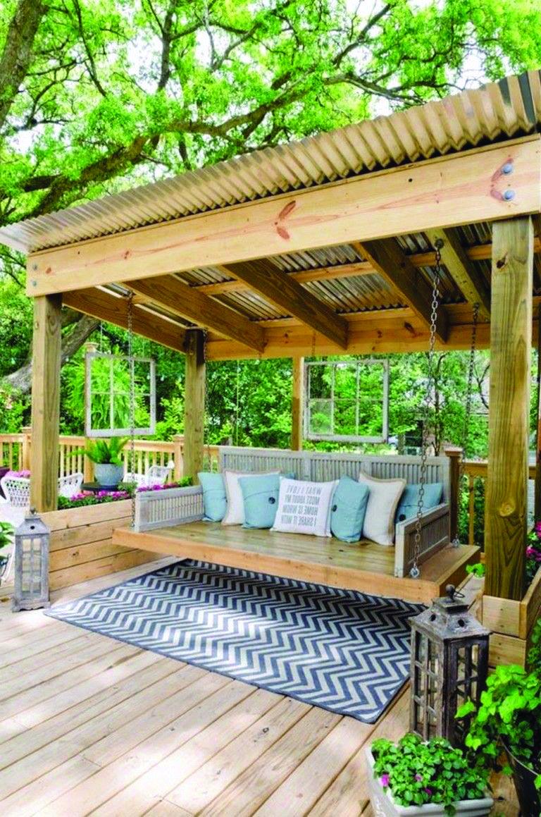 Artistic Tips For Your Pergola Backyard Seating Area Backyard