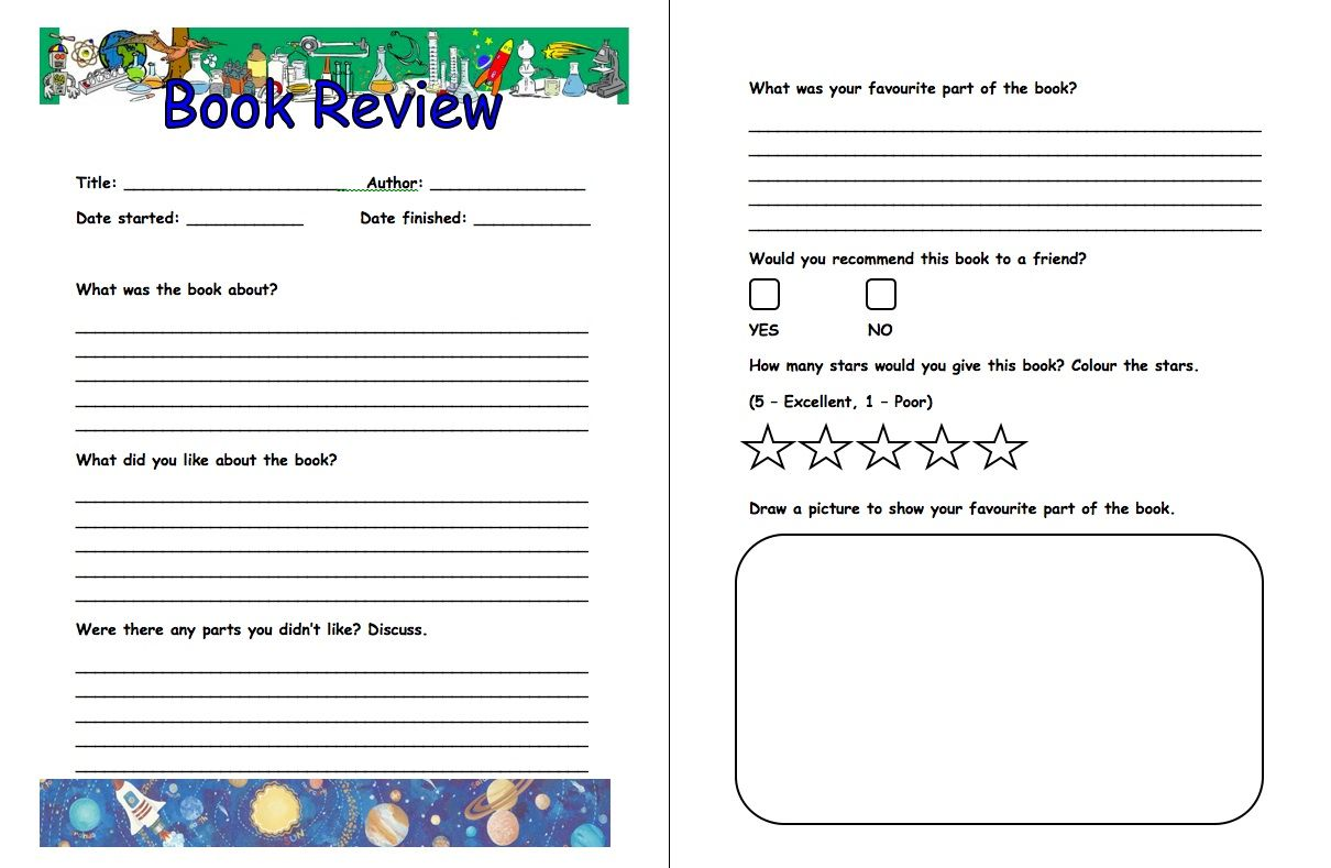 Book Review Format Template With Images