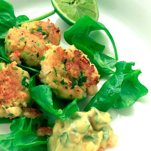 thai fish cakes with chilli mayo