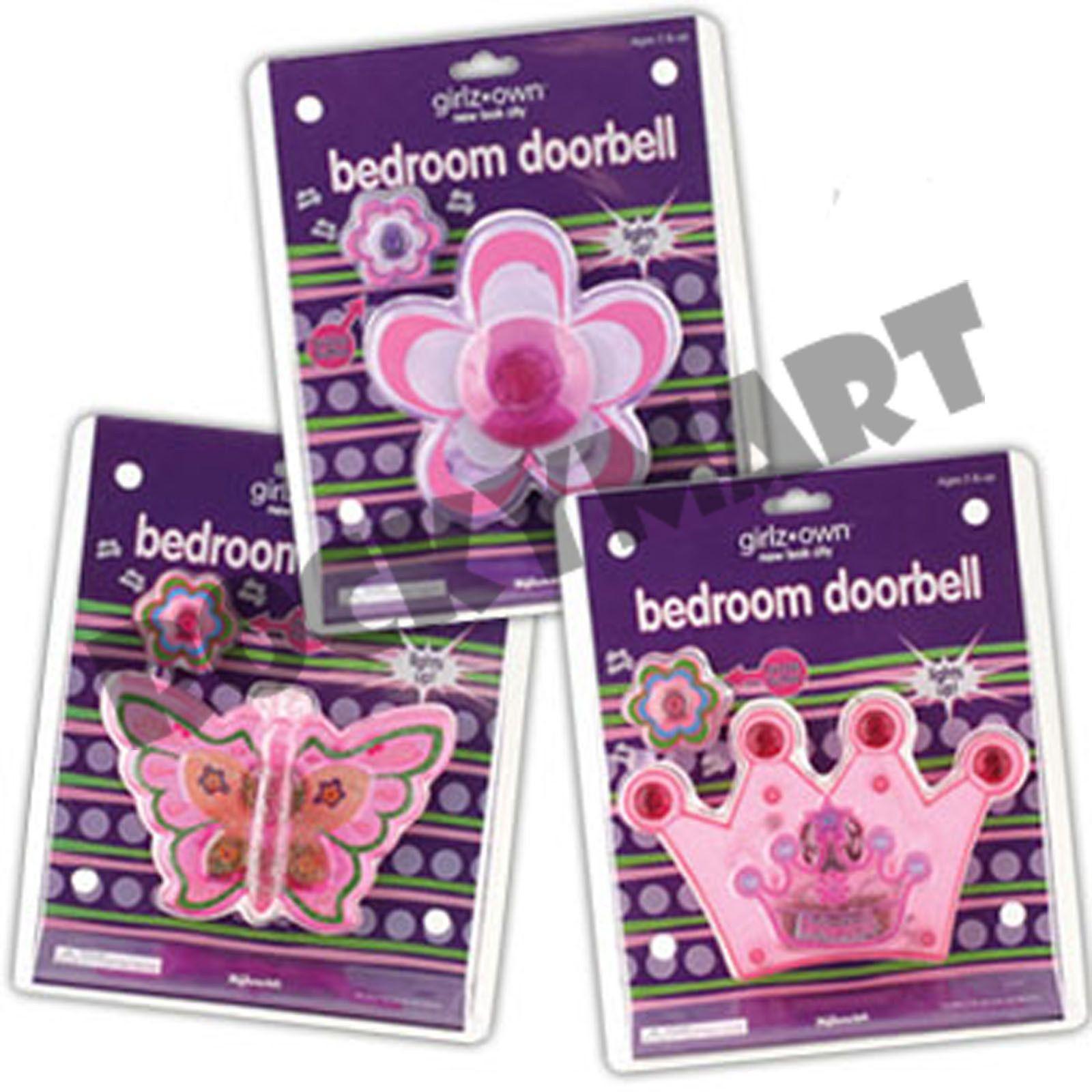 Girls Own Bedroom Doorbell 3 Designs Butterfly Daisy Princess