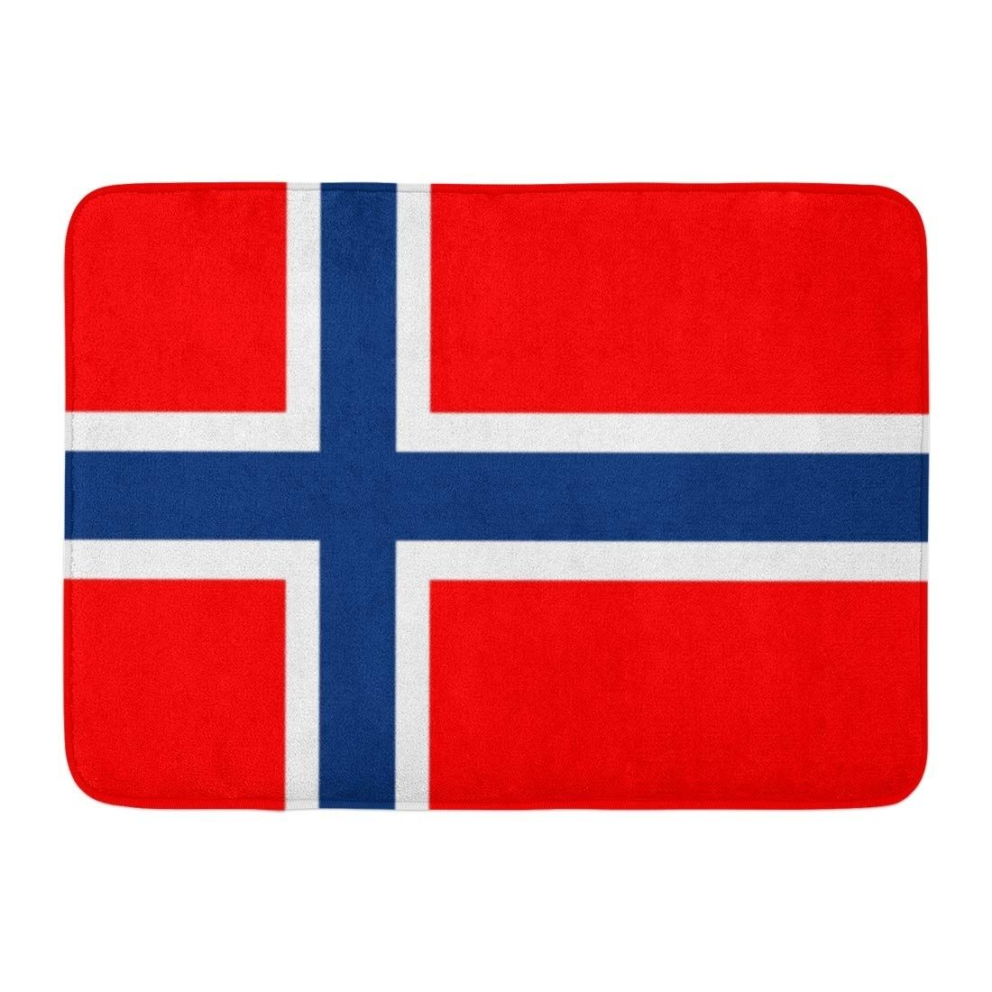 Blue Norway Norwegian Flag Red Accurate Correctly Country Culture Doormat Floor Rug Bath Mat 23 6x15 7 Inch In 2020 Norwegian Flag Norway Flag Flag Drawing