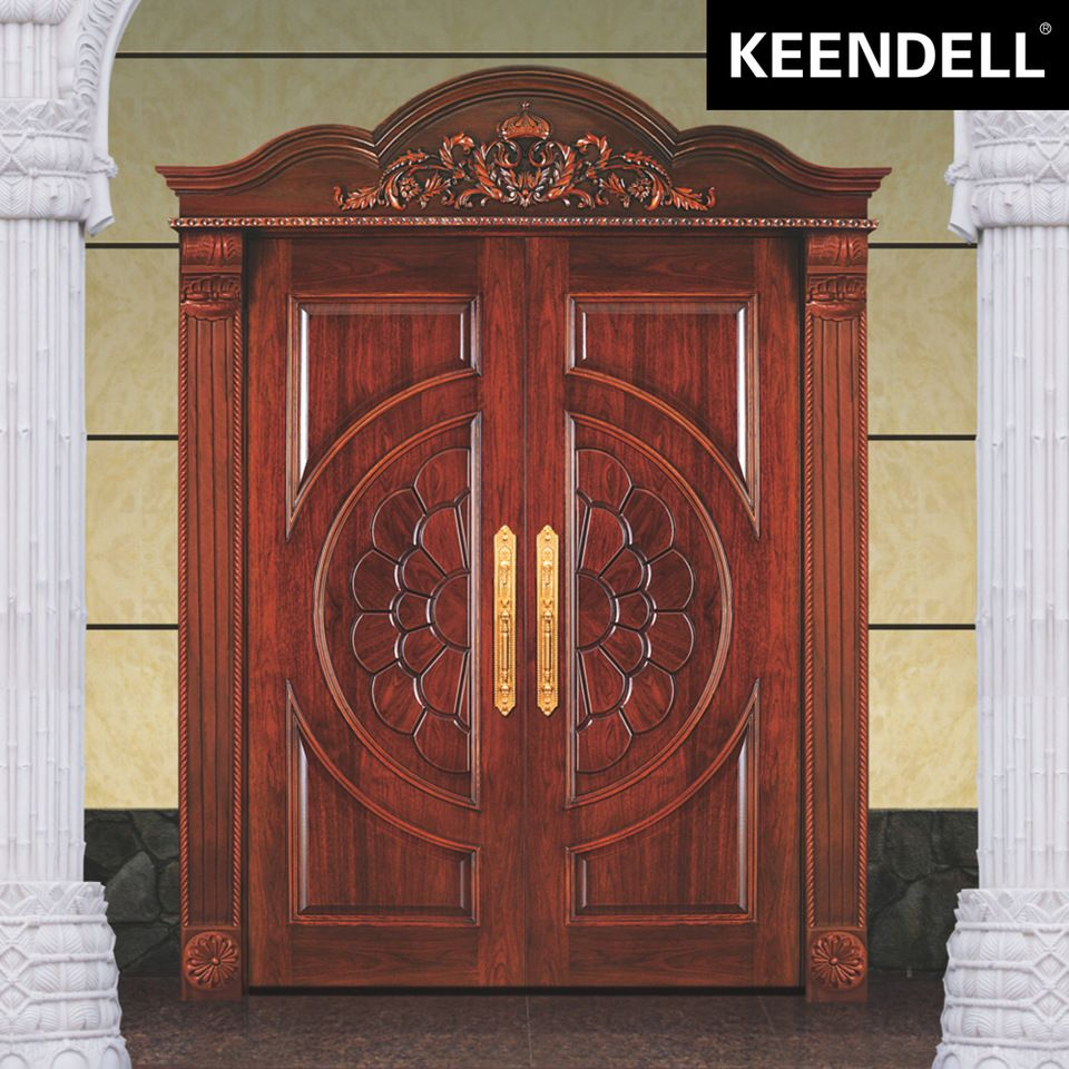 . Hot sale exterior entry front wooden composite main door designs