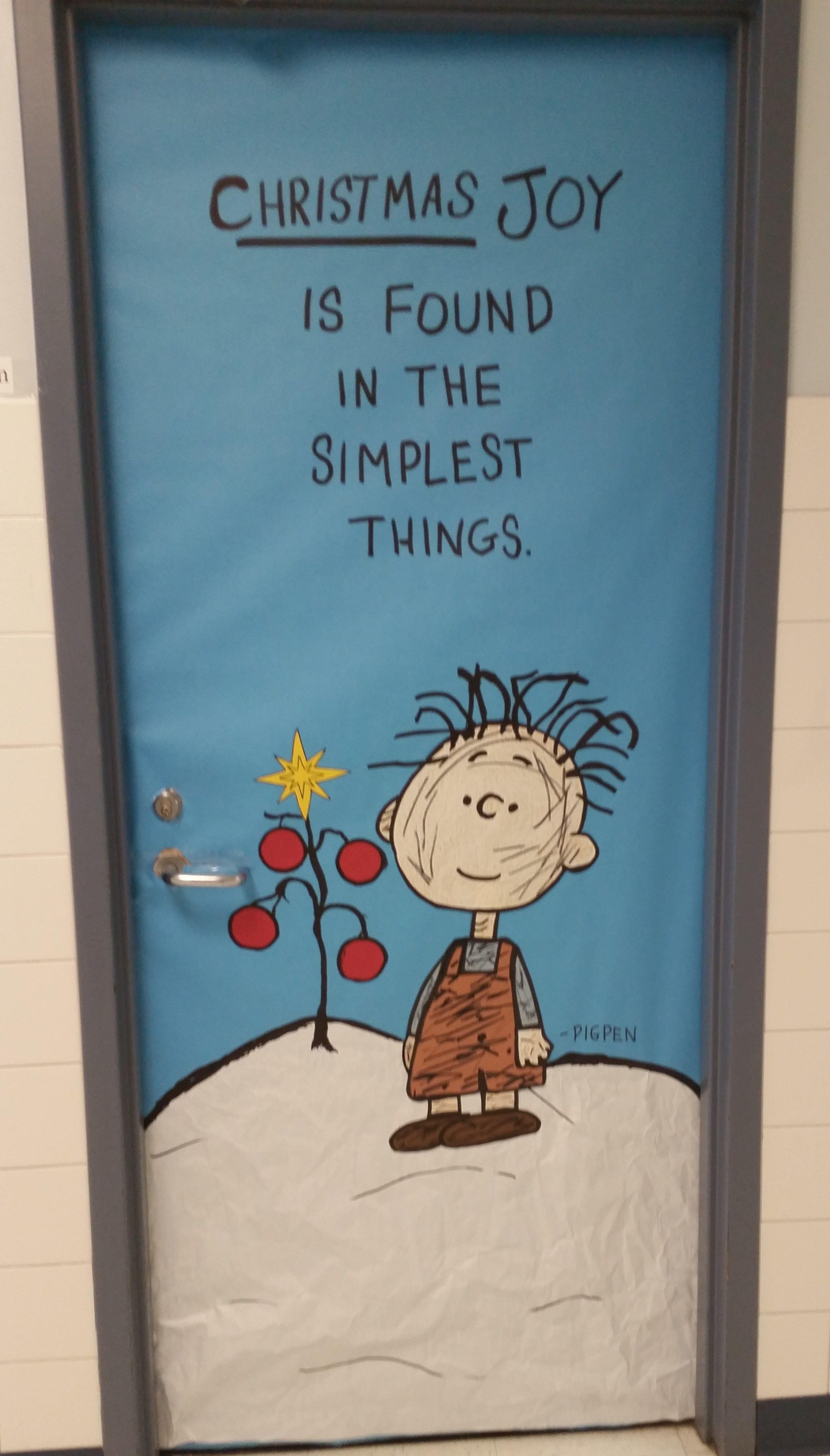 Junior hallway ideas  Pigpen  Charlie Brown Christmas Hall Teacher Workroom  Junior high