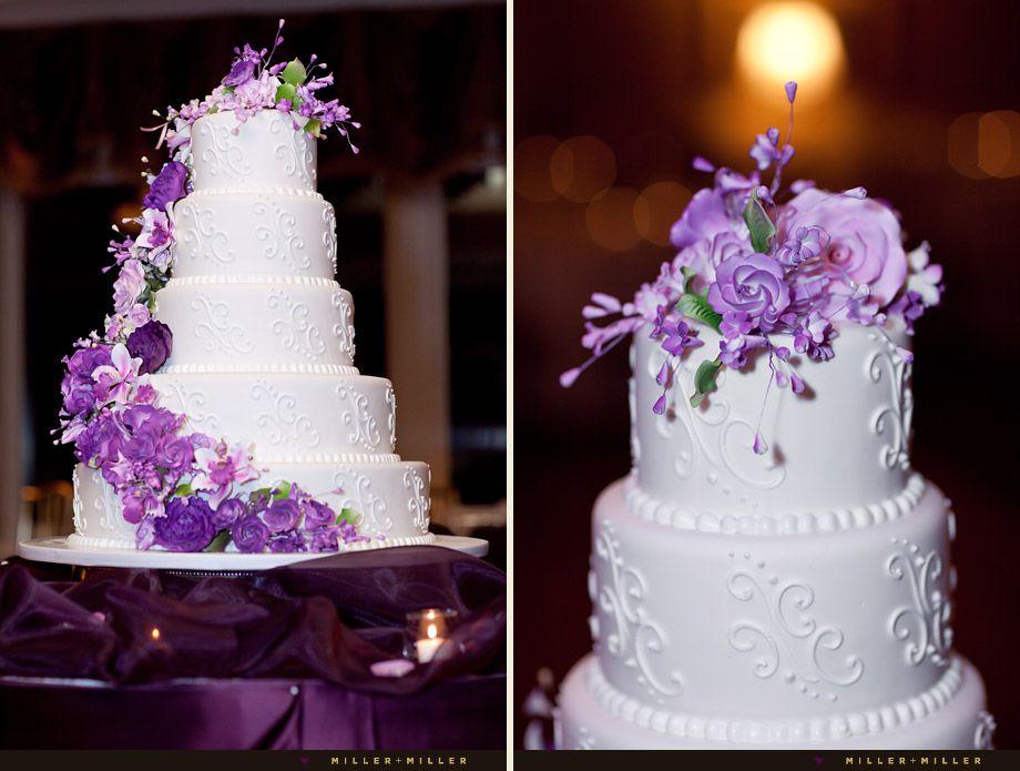 40 glamorous dark purple wedding inspirational ideas wedding cake