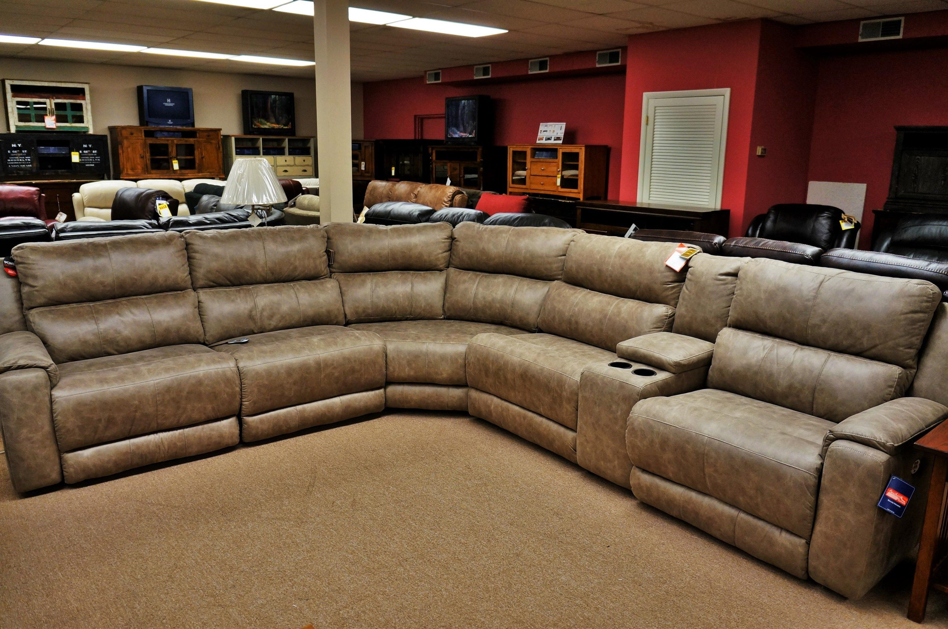 Dazzle Reclining Sectional With Power Headrests By Southern Motion
