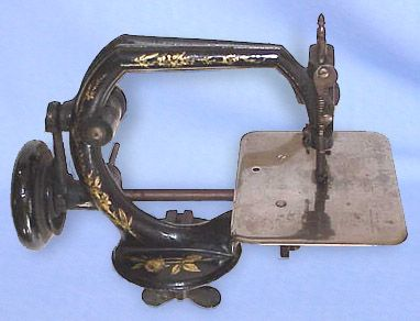 Produced by the Bartram & Fanton Company, of Danbury, Connecticut, this chain stitch model dates from the late 1860s / early 1870s. While superficially resembling a Willcox & Gibbs, it is infinitely rarer.This particular example is missing its treadle base.