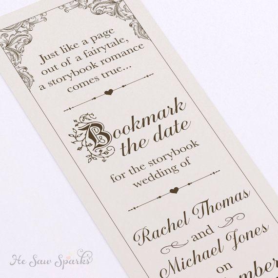 Fairytale Bookmark Save The date DIY Printable by HeSawSparks ...