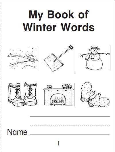 Snow Man February Vacation Reading Coloring Page