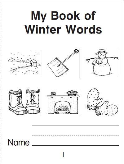 my book of winter words a mini book school englisch englisch grundschule. Black Bedroom Furniture Sets. Home Design Ideas