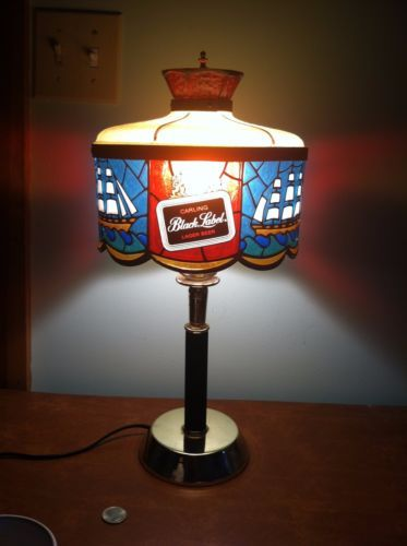 Vintage advertising carling black label beer light bar table or wall vintage advertising carling black label beer light bar table or wall mount lamp mozeypictures Image collections
