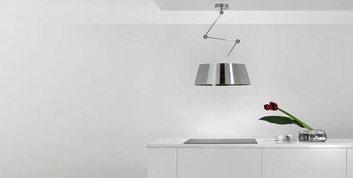 Hotte de cuisine îlot / avec éclairage intégré / design original - hotte de cuisine  cm