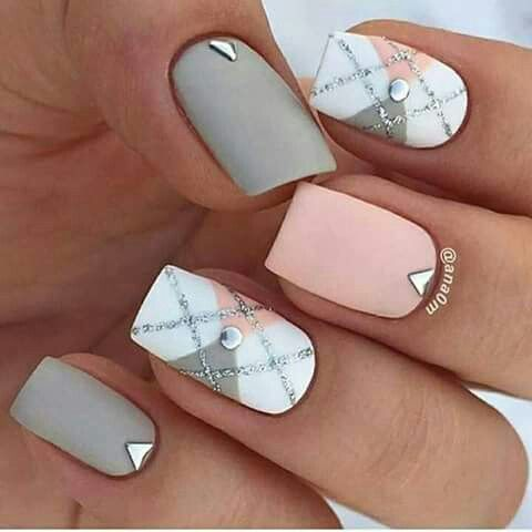 2017 Fall Winter Nail Art Design Squoval Short Nails