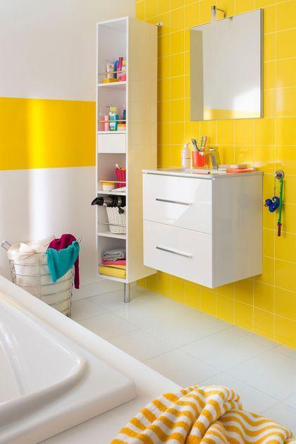 Accorder un meuble vasque aux couleurs de la salle de bain de nos