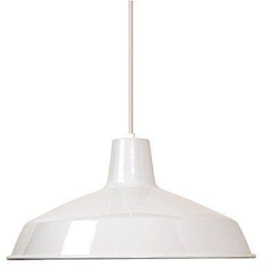 Nuvo Lighting SF Warehouse Shade White Kitchen Ideas - Commercial kitchen pendant lighting