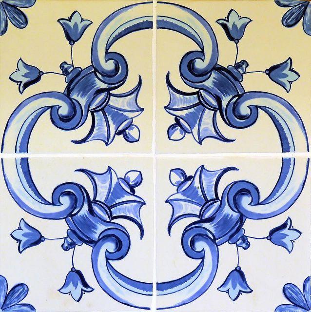 tile in blue...