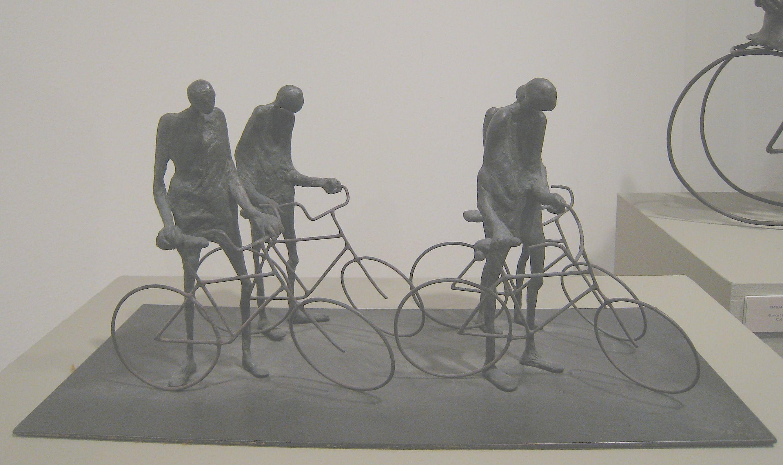 Escultura bicis.  Expo Granada 2010