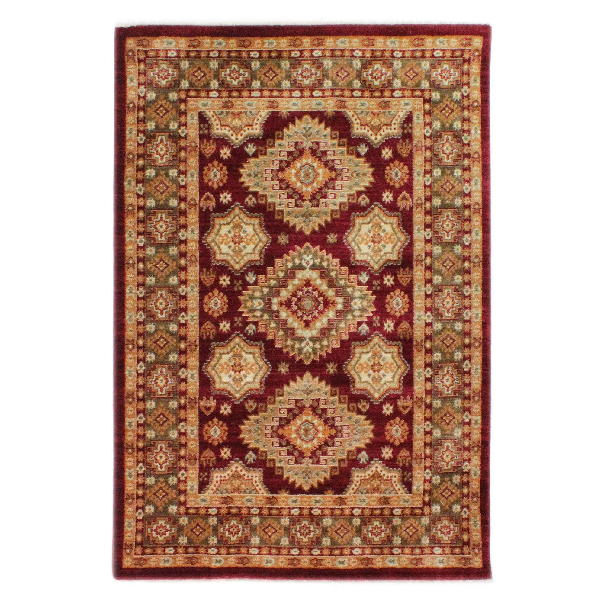 Anti Slip Rust Red Ilayda Rug