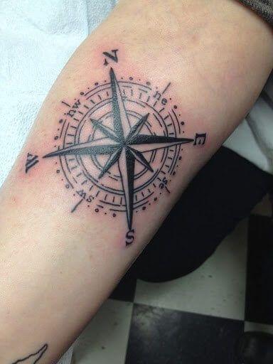 Inner Arm Tattoos For Men Compass Tattoo Compass Tattoo Meaning Simple Compass Tattoo