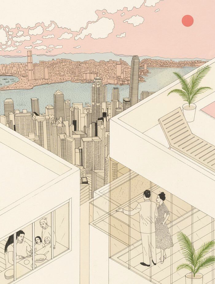 Bristol Based Illustrator Harriet Lee Merrion Already Present In Socks Archive Works On Sophisticated Drawings Which Combine Linear Figures And Volumes