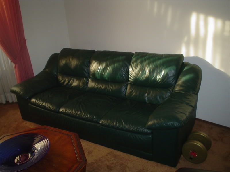 Dark Green Leather Sofa Thesofa