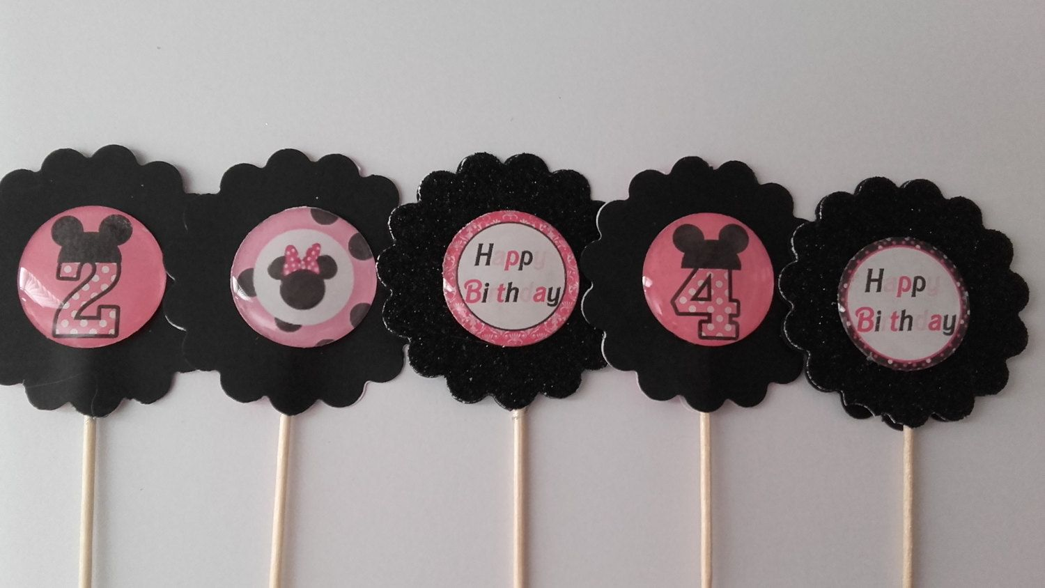 10/20 Cupcake Toppers, Minnie Mouse Cupcake Toppers/Minnie and Number/Cake Toppers/Minnie Inspired Cupcake Toppers/Minnie Mouse Theme Party by PartyFunForKids on Etsy